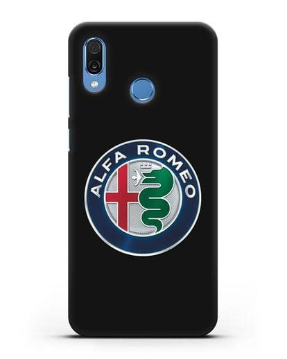 Чехол с логотипом Alfa Romeo силикон черный для Honor Play
