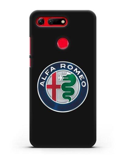 Чехол с логотипом Alfa Romeo силикон черный для Honor View 20