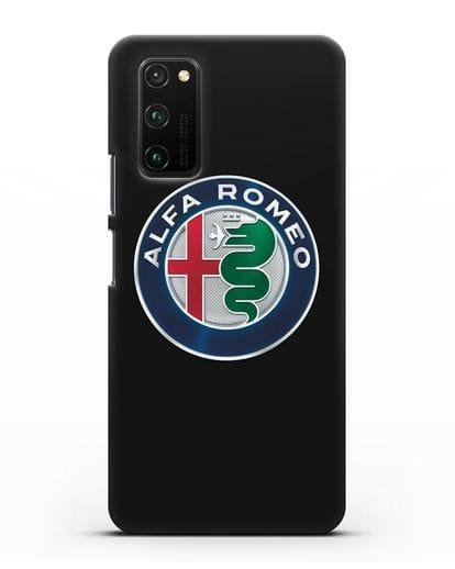 Чехол с логотипом Alfa Romeo силикон черный для Honor View 30 Pro
