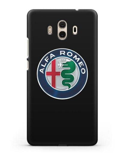Чехол с логотипом Alfa Romeo силикон черный для Huawei Mate 10