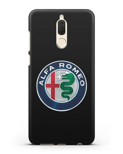 Чехол с логотипом Alfa Romeo силикон черный для Huawei Mate 10 Lite