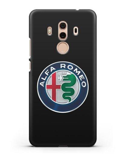 Чехол с логотипом Alfa Romeo силикон черный для Huawei Mate 10 Pro