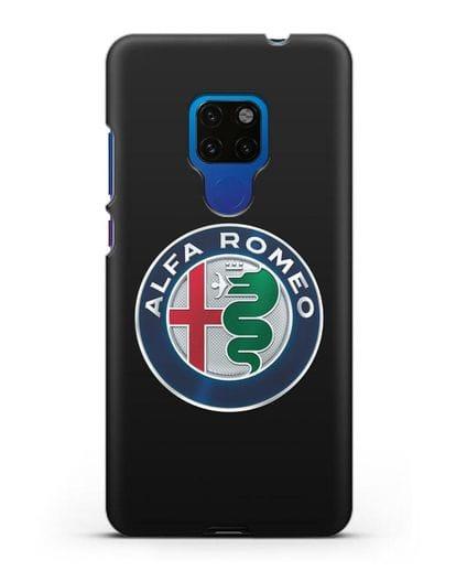 Чехол с логотипом Alfa Romeo силикон черный для Huawei Mate 20