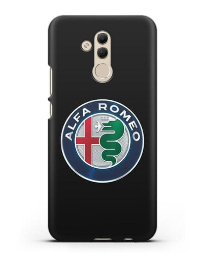 Чехол с логотипом Alfa Romeo силикон черный для Huawei Mate 20 Lite