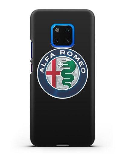 Чехол с логотипом Alfa Romeo силикон черный для Huawei Mate 20 Pro