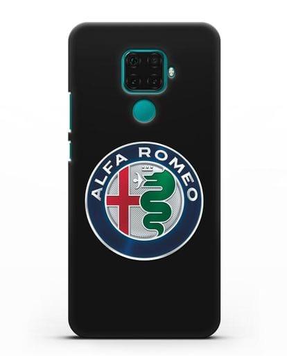 Чехол с логотипом Alfa Romeo силикон черный для Huawei Mate 30 Lite