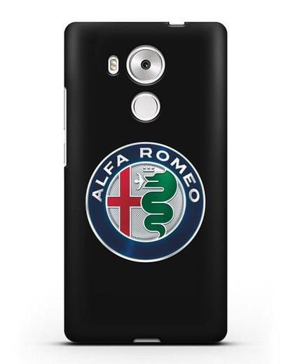 Чехол с логотипом Alfa Romeo силикон черный для Huawei Mate 8