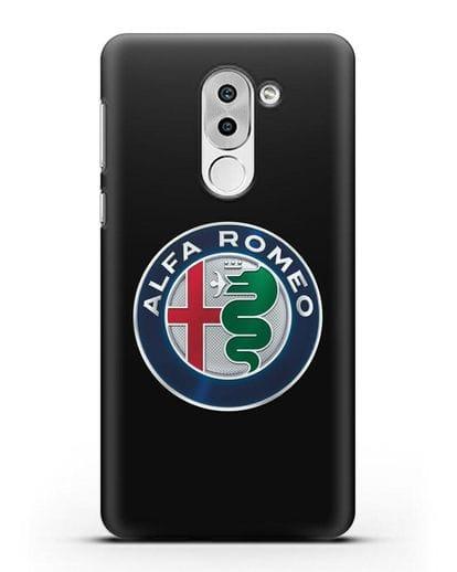 Чехол с логотипом Alfa Romeo силикон черный для Huawei Mate 9 Lite