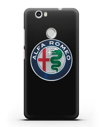 Чехол с логотипом Alfa Romeo силикон черный для Huawei Nova