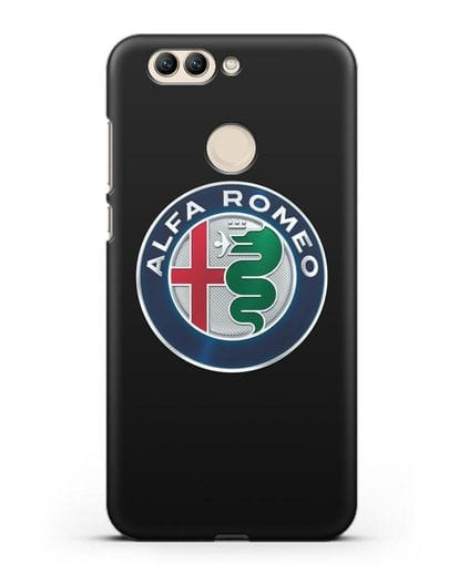 Чехол с логотипом Alfa Romeo силикон черный для Huawei Nova 2 Plus
