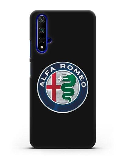 Чехол с логотипом Alfa Romeo силикон черный для Huawei Nova 5T