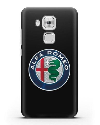 Чехол с логотипом Alfa Romeo силикон черный для Huawei Nova Plus