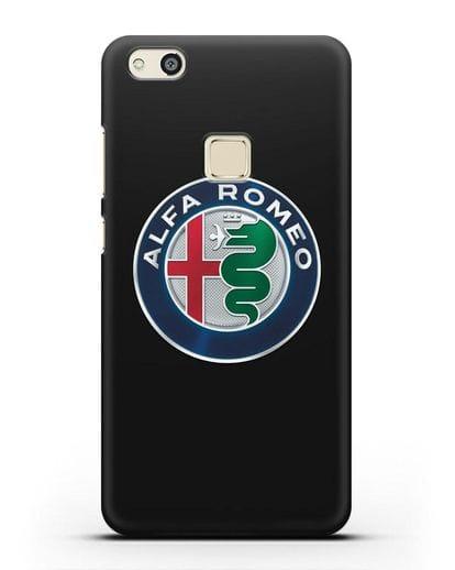 Чехол с логотипом Alfa Romeo силикон черный для Huawei P10 Lite