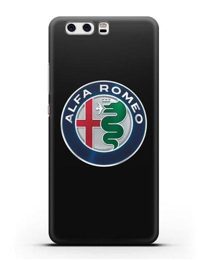 Чехол с логотипом Alfa Romeo силикон черный для Huawei P10 Plus
