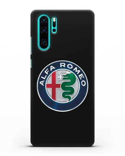 Чехол с логотипом Alfa Romeo силикон черный для Huawei P30 Pro