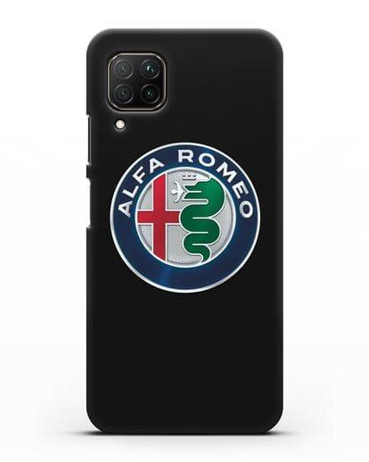 Чехол с логотипом Alfa Romeo силикон черный для Huawei P40 lite