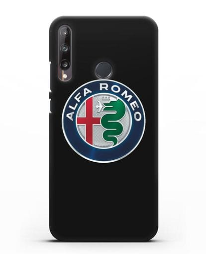 Чехол с логотипом Alfa Romeo силикон черный для Huawei P40 lite E
