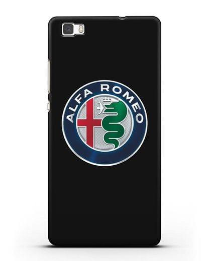 Чехол с логотипом Alfa Romeo силикон черный для Huawei P8 Lite