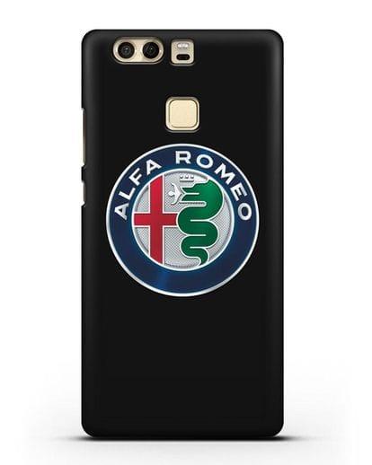 Чехол с логотипом Alfa Romeo силикон черный для Huawei P9