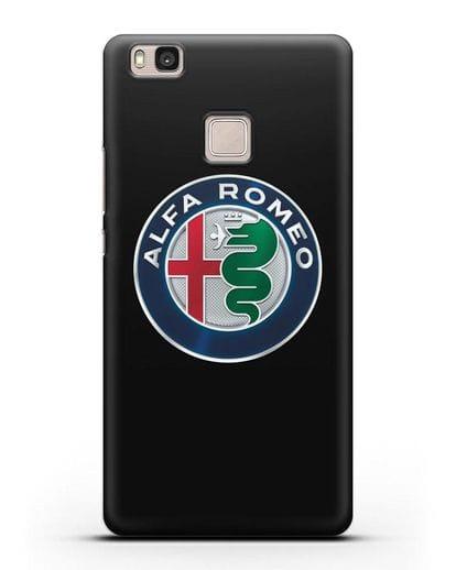 Чехол с логотипом Alfa Romeo силикон черный для Huawei P9 Lite