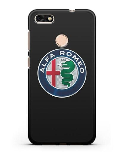 Чехол с логотипом Alfa Romeo силикон черный для Huawei P9 Lite mini