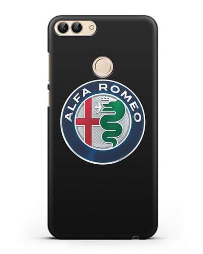 Чехол с логотипом Alfa Romeo силикон черный для Huawei P Smart