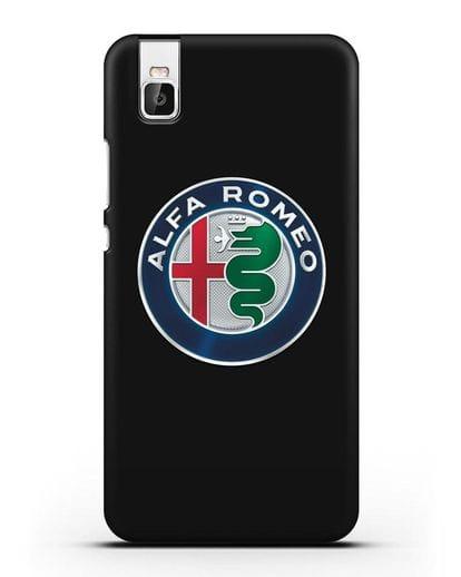 Чехол с логотипом Alfa Romeo силикон черный для Huawei Shot X