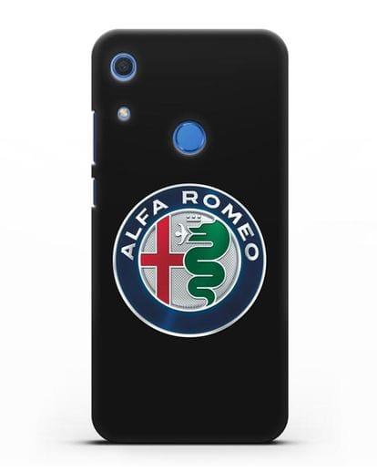 Чехол с логотипом Alfa Romeo силикон черный для Huawei Y6s