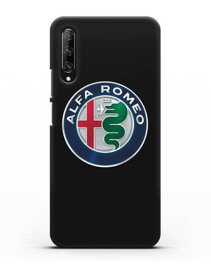 Чехол с логотипом Alfa Romeo силикон черный для Huawei Y9s
