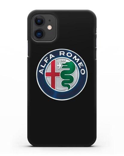 Чехол с логотипом Alfa Romeo силикон черный для iPhone 11