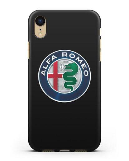 Чехол с логотипом Alfa Romeo силикон черный для iPhone XR