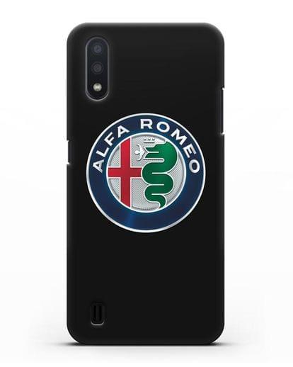 Чехол с логотипом Alfa Romeo силикон черный для Samsung Galaxy A01 [SM-A015F]
