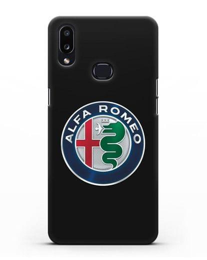 Чехол с логотипом Alfa Romeo силикон черный для Samsung Galaxy A10s [SM-F107F]