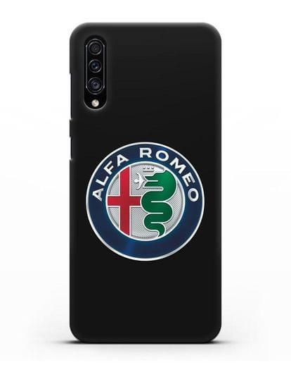 Чехол с логотипом Alfa Romeo силикон черный для Samsung Galaxy A30s [SM-A307FN]