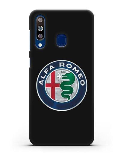 Чехол с логотипом Alfa Romeo силикон черный для Samsung Galaxy A60 [SM-A606F]