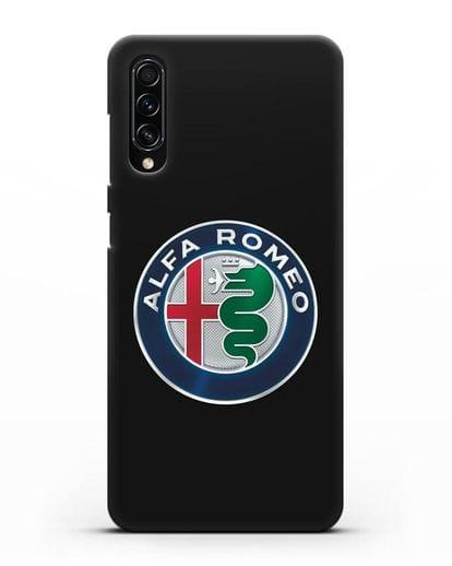Чехол с логотипом Alfa Romeo силикон черный для Samsung Galaxy A70s [SM-A707F]