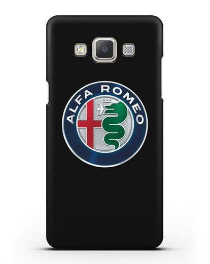 Чехол с логотипом Alfa Romeo силикон черный для Samsung Galaxy A7 2015 [SM-A700F]