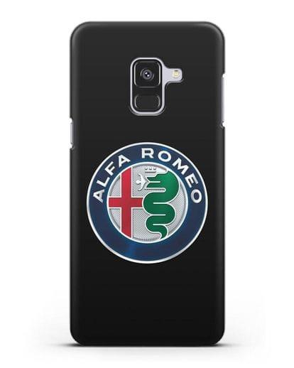 Чехол с логотипом Alfa Romeo силикон черный для Samsung Galaxy A8 Plus [SM-A730F]