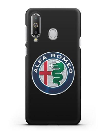 Чехол с логотипом Alfa Romeo силикон черный для Samsung Galaxy A8s [SM-G8870]