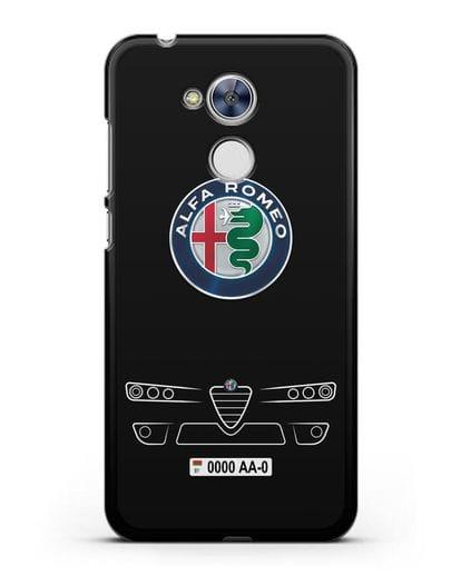 Чехол Alfa Romeo с номерным знаком силикон черный для Honor 6A
