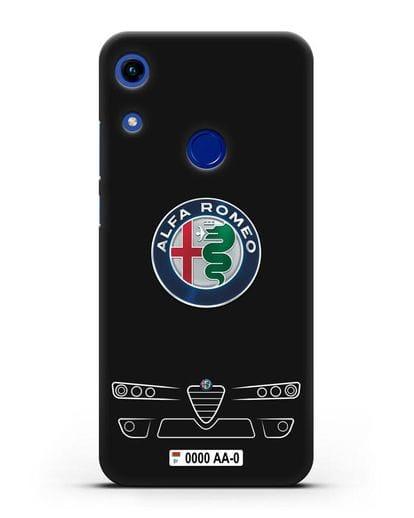 Чехол Alfa Romeo с номерным знаком силикон черный для Honor 8A