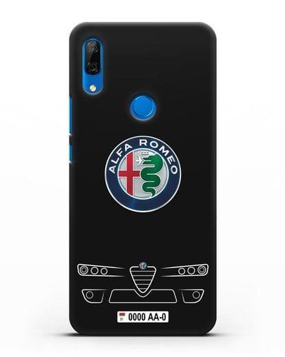 Чехол Alfa Romeo с номерным знаком силикон черный для Huawei P Smart Z