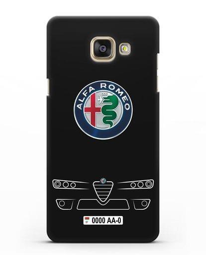 Чехол Alfa Romeo с номерным знаком силикон черный для Samsung Galaxy A7 2016 [SM-A710F]