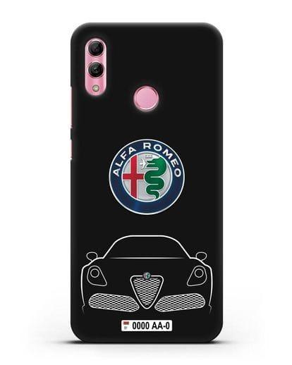 Чехол Alfa Romeo с автомобильным номером силикон черный для Honor 10 Lite
