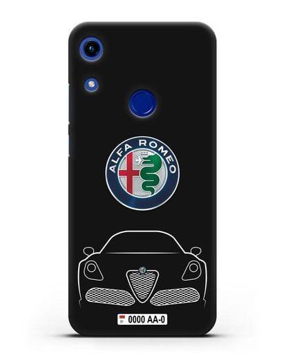 Чехол Alfa Romeo с автомобильным номером силикон черный для Honor 8A