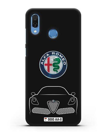 Чехол Alfa Romeo с автомобильным номером силикон черный для Honor Play