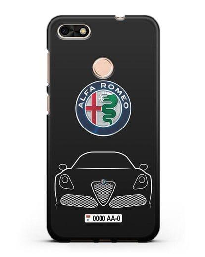 Чехол Alfa Romeo с автомобильным номером силикон черный для Huawei P9 Lite mini
