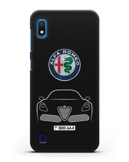 Чехол Alfa Romeo с автомобильным номером силикон черный для Samsung Galaxy A10 [SM-A105F]
