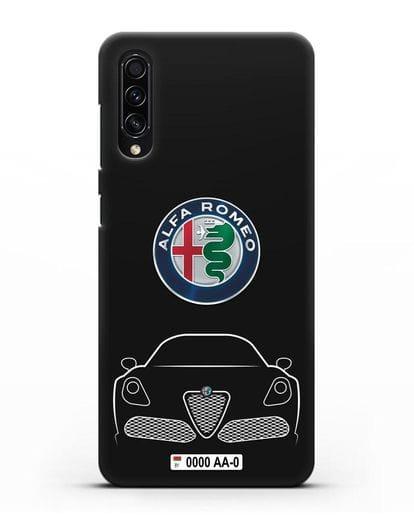 Чехол Alfa Romeo с автомобильным номером силикон черный для Samsung Galaxy A50s [SM-F507FN]