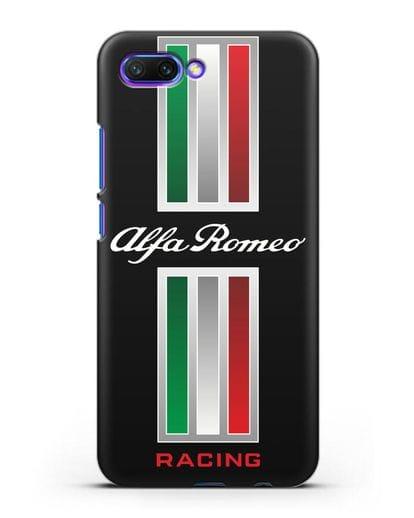 Чехол с логотипом Альфа Ромео силикон черный для Honor 10